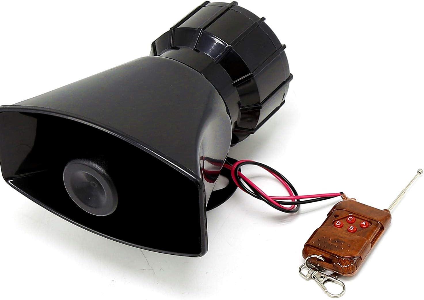 YIYIDA Autohupe Auto Sirene Horn Autohupe Horn Autohupe mit Mikrofon PA-System Notschallverst/ärker lauter elektrischer Hornton kann f/ür jeden 12V Polizeiwagen LKW Van SUV usw verwendet Werden.