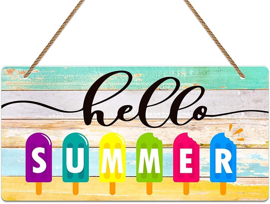 WaaHome Hello Summer Door Sign 6