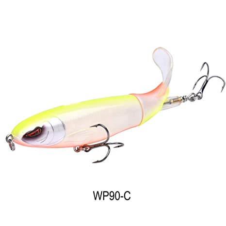 Fishing Lure Artificial Bait Hard Plopper Soft Rotating Tail Fishing Tackle