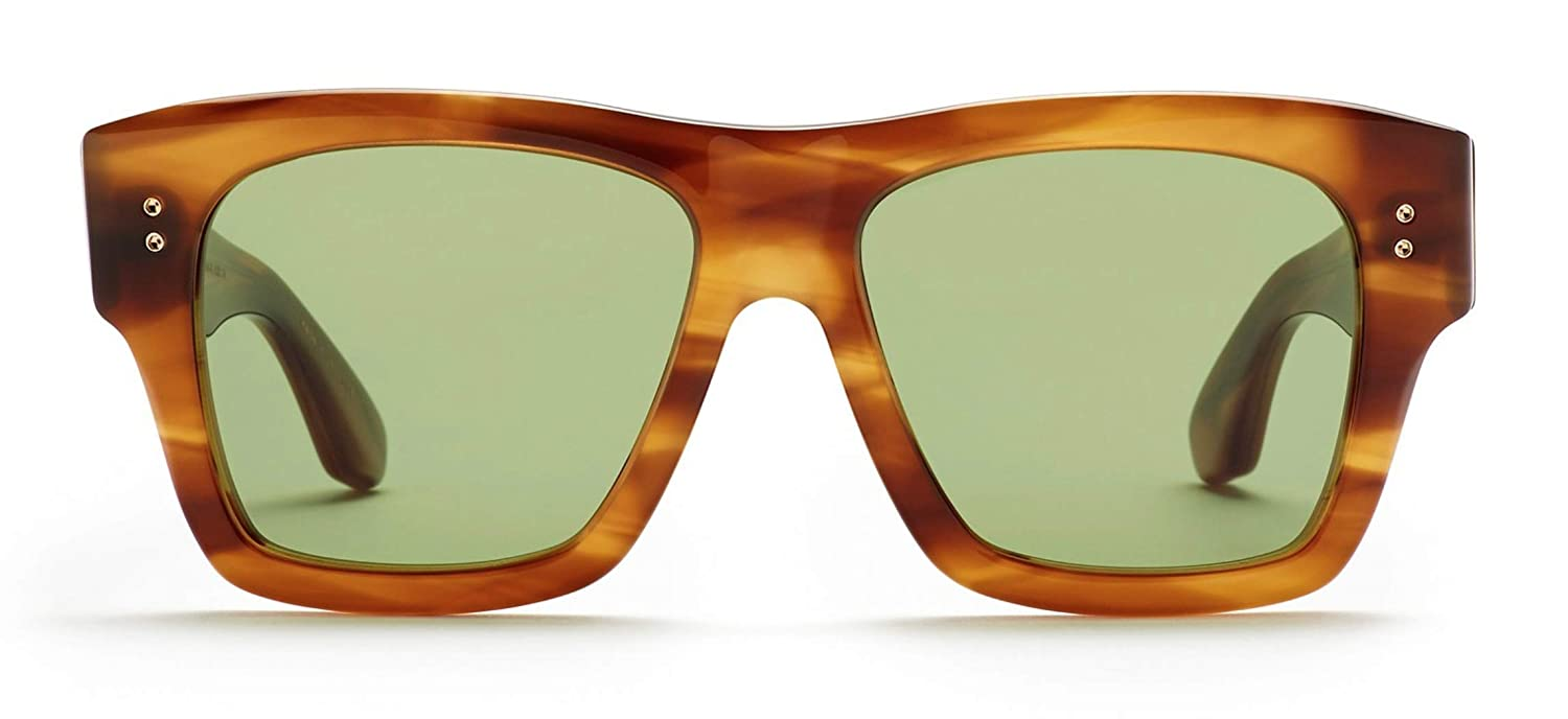 69006a89ae444 Amazon.com  Dita 19004-B-BRN-YEL-54-Z - Creator Sunglasses Brown Gradient AR  54mm  Clothing