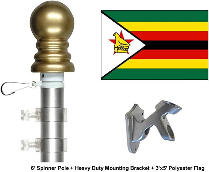 """5/"""" Gold Ball Finial Traditional Flag pole Topper Gold Anodized Finish"""