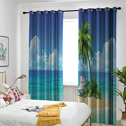 Astonishing Amazon Com Coastal Decor Collection Grommet Window Curtain Download Free Architecture Designs Terchretrmadebymaigaardcom