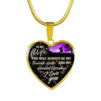 Amazon.com  Customized To My Wife Heart Pendant Luxury Women s ... 25b6a36aae