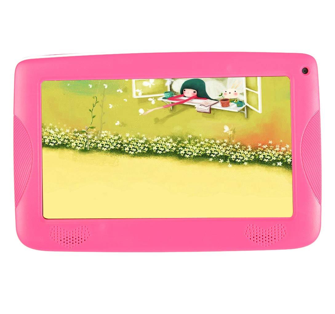 Love Life Tableta para niños, Pantalla con Pantalla de 7 Pulgadas, Tableta con Android, Memoria de 8 g, máquina de Aprendizaje de los niños con cámara y Juegos WiFi, Juguetes de e-Reader,Pink