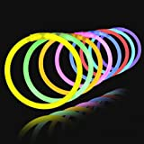 "Glow Sticks 100 8"" Lumistick Light-up Glowstick Bracelets Party Favors Toys Supplies Mixed Colors"