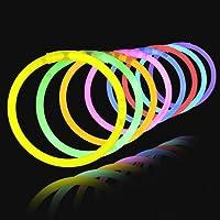 "100 8"" Premium Lumistick Glow Stick Bracelets Assorted"
