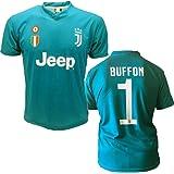 Juventus maglia BUFFON 1 replica prodotto ufficiale 2017/18 autorizzato JJ F.C. (bambino 2 4 6 8 10 12 anni) adulto (S M L XL)