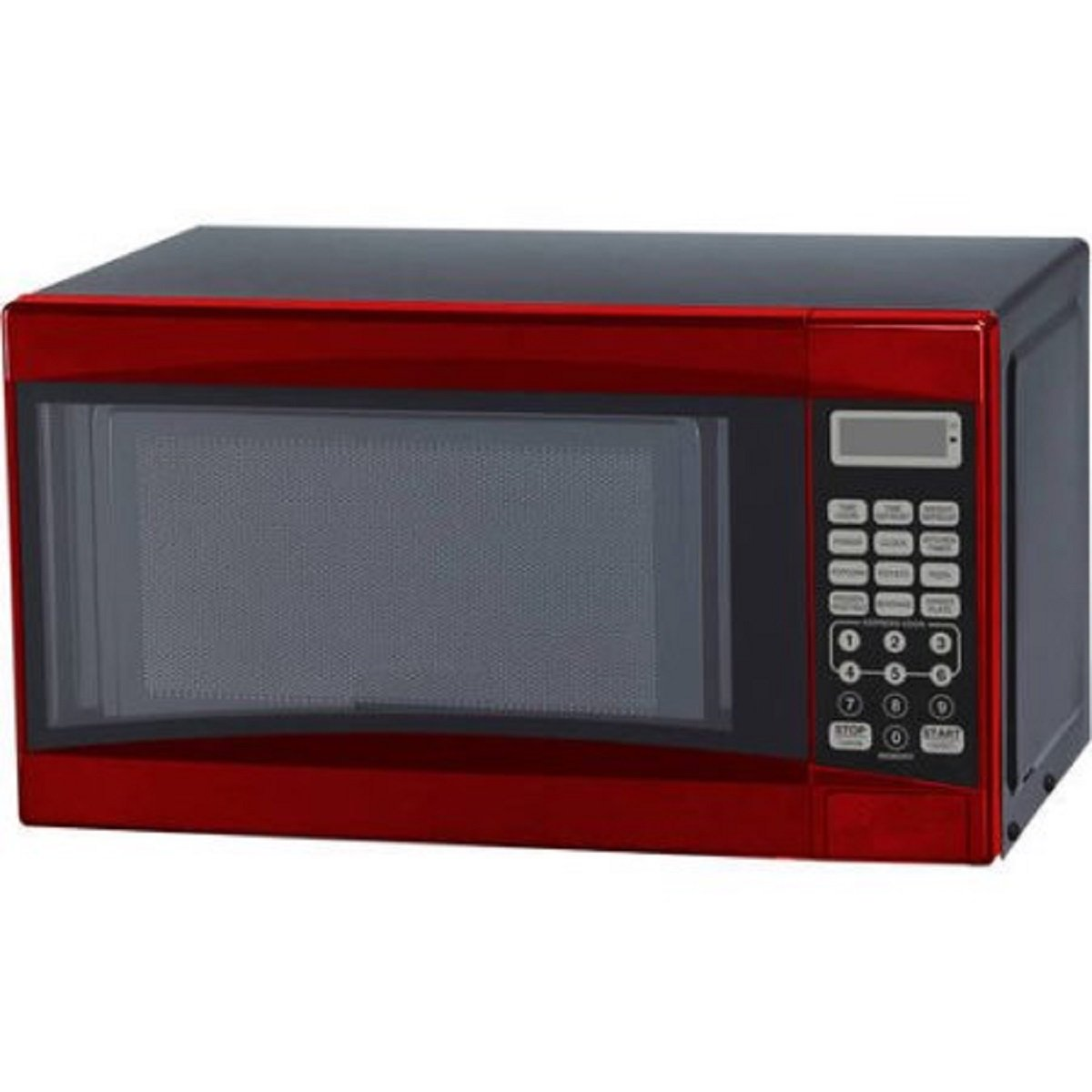 0.7-Cubic Foot Red Touch Pad Control Convenience Cooking Controls Child Lock Cooking Complete Reminder Microwave Oven