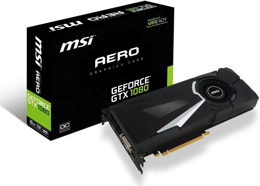 MSI Gaming GeForce GTX 1080 8GB GDDR5X SLI DirectX 12 VR Ready Graphics Card (GTX 1080 AERO 8G OC) (Renewed)