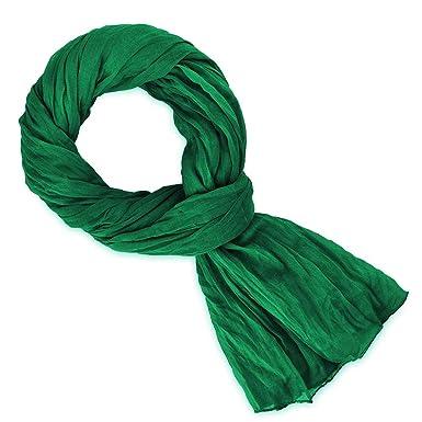b67fe7c5e96 Allée du foulard Chèche vert bouteille  Amazon.fr  Vêtements et ...