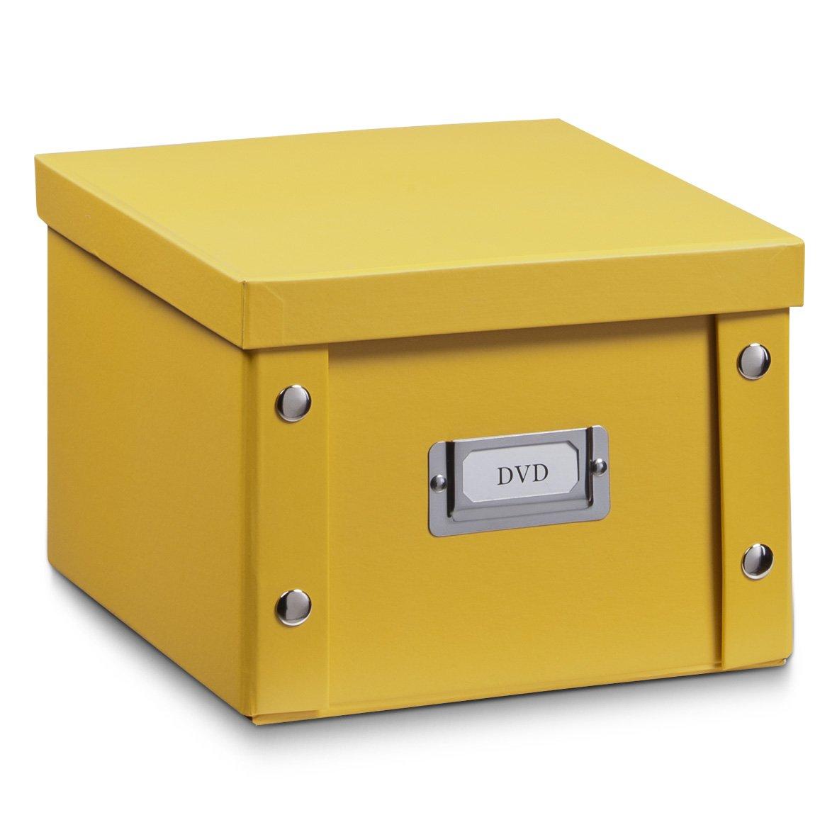 free zeller bote de rangement de dvd carton jaune mango x x cm amazonfr cuisine u maison with. Black Bedroom Furniture Sets. Home Design Ideas