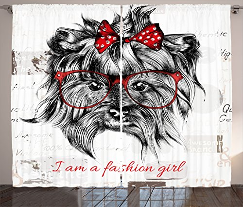 Animal Curtains by Ambesonne,