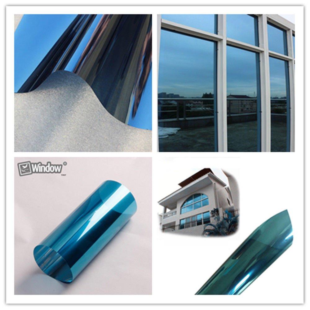 [HOHO] Blue Silver Tint 17% VLT Window Film PET Reflective Mirror Film(60''x66ft) by HOHO
