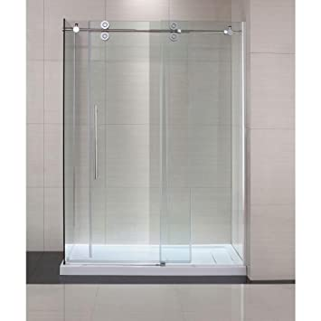 Amazon Schon Lindsay 60 In X 79 In Frameless Shower Enclosure