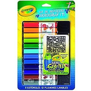 Crayola airbrush marker and stencil pack toys for Aerografo crayola amazon