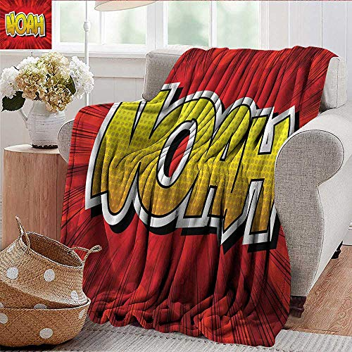 Xaviera Doherty Throw Blanket Noah,Common Teen Boys Name Microfiber All Season Blanket for Bed or Couch 30