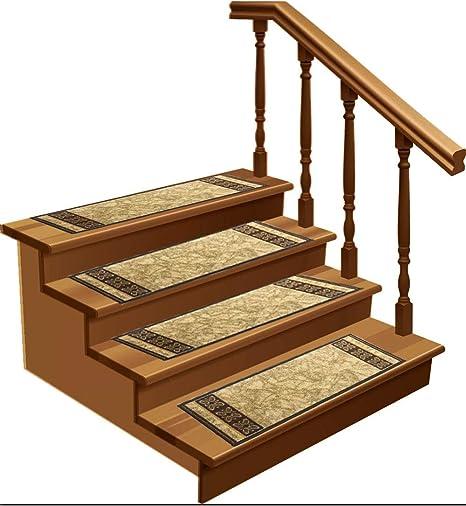 lot de 7 tapis de marches d escalier antiderapants en caoutchouc pour marches d escalier en bois emy beige 21 6 x 26 cm