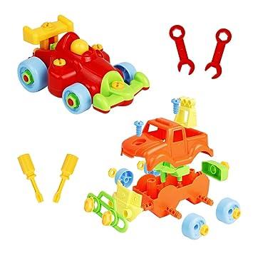 Coches Juguetes Ninos Desmontar Y Ensamblar Vehiculos 2 En 1 Coches