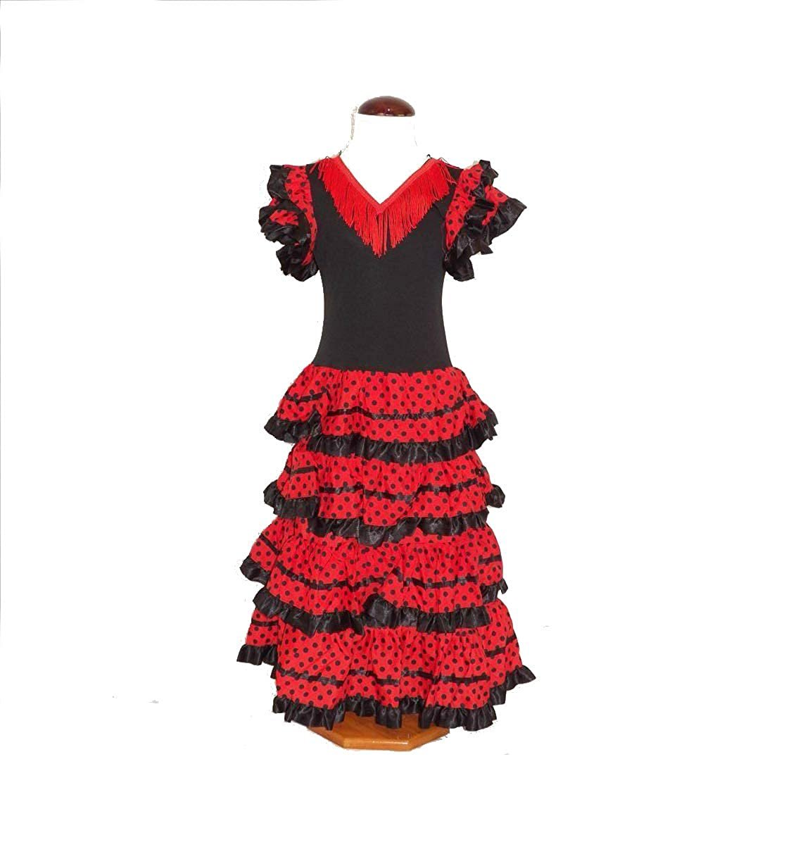 CB Traje de Flamenca, faralaes, sevillana. Mujer, Talla M ...