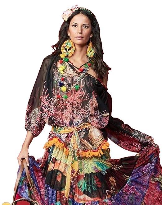 antica sartoria Positano - Positano 12 Blusa  Amazon.it  Abbigliamento 970abdbba06
