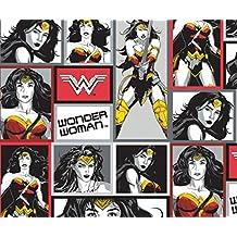 DC Comics Batman V Superman Wonder Woman in Blocks in Multi Fabric By the Yard