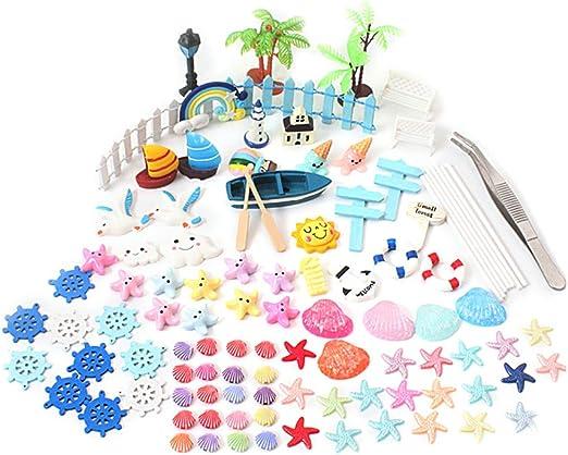 yardwe miniaturas jardín Fairy garden accesorios decoración casa Mini muñecas decoración estilo MAR náutico 105 piezas: Amazon.es: Hogar