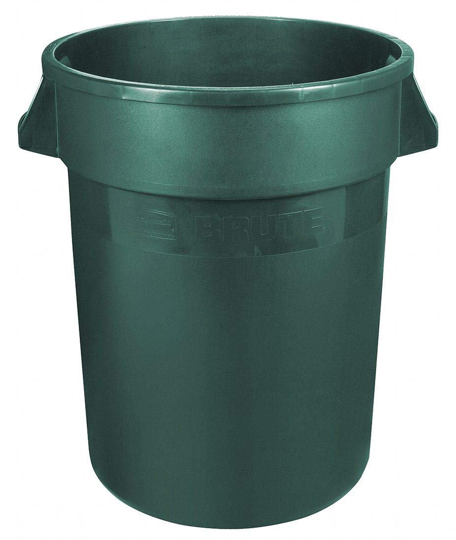 Food-Grade Waste Container, 10 gal, Gr