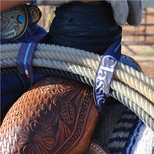 CLASSIC EQUINE ELASTIC LARIAT ROPE HOLDER STRAP (1) (Saddle Roping Western)