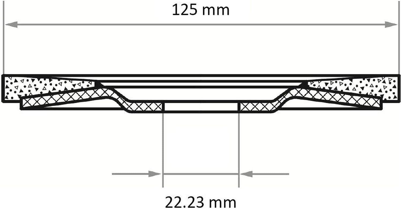 10x LUKAS F/ächerscheibe F/ächerscheiben Schleifscheibe V2 Power /Ø 125 mm Korn 40