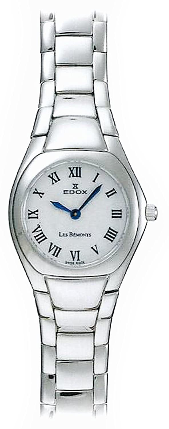 Amazon.com: Edox les bémonts ultra slim 28109-3P-BRBU Womens swiss-quartz watch: Edox: Watches