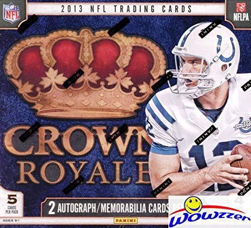 2013 Nfl Draft - 2013 Panini Crown Royale NFL Football Factory Sealed Retail Box with TWO(2) AUTOGRAPH or MEMORABILIA Cards! Look for Rookies & Autographs of the NFL Draft Picks! WOWZZER!