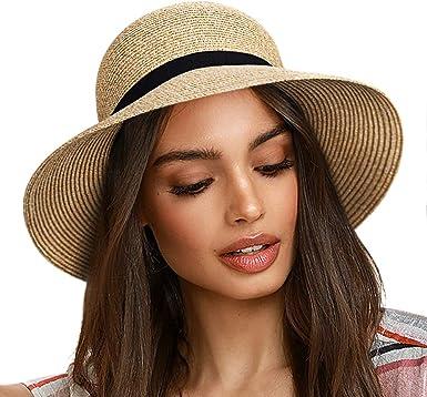FURTALK Sun Hats for Women Brim Straw Hat Beach Hat UPF UV Packable Cap for  Travel at Amazon Women's Clothing store