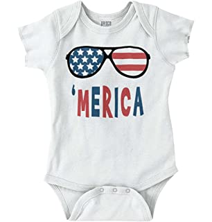 c6e0d225d Amazon.com  WINZIK 4th July Baby Outfits American Flag Romper ...