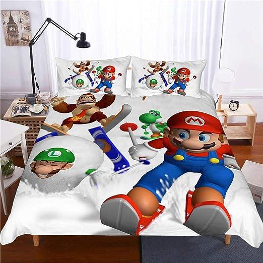 bed linings Juegos de Fundas Juego De Sábanas 3D Super Mario ...