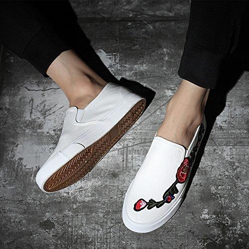 Academia top Mocasines Sneakers Hombre Planos Casuales Plataforma Para Zapatos Alpargatas Lona B De Huan Low qa7wg7