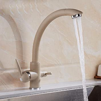 Cocina de purificador de agua grifo doble salida fregadero ...