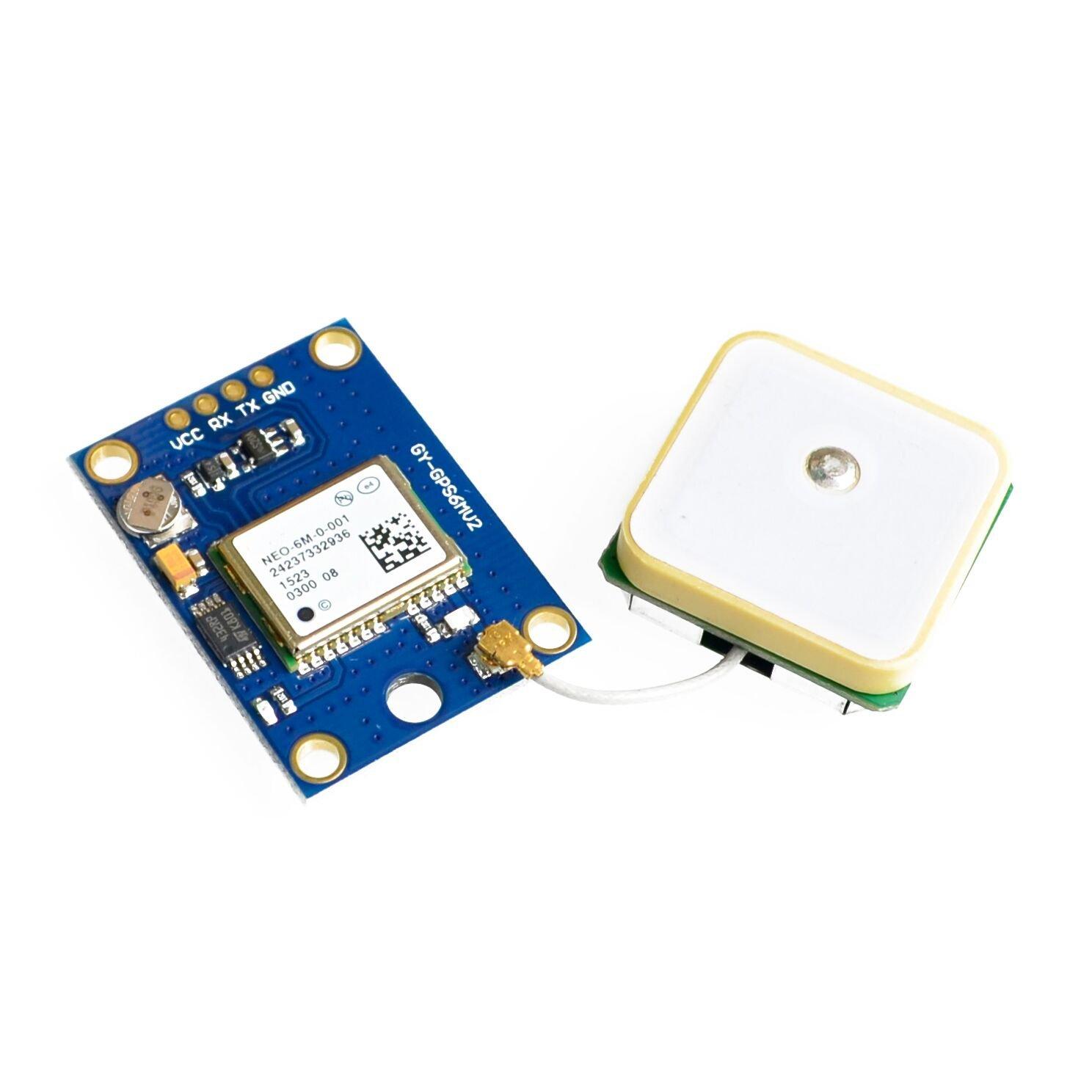 Ants-Store - 10pcs/lot GY-NEO6MV2 new GPS module NEO6MV2 with Flight Control EEPROM MWC APM2.5 large antenna