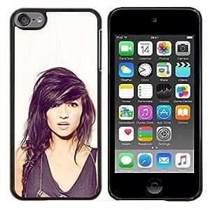 Qstar Arte & diseño plástico duro Fundas Cover Cubre Hard Case Cover para Apple iPod Touch 6 6th Touch6 (Sexy Girl)