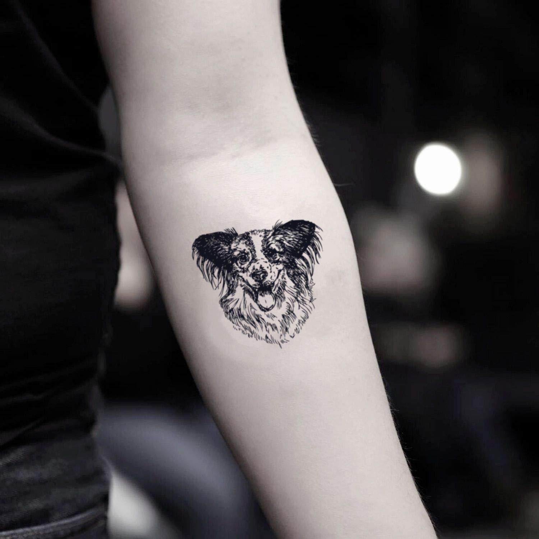 Tatuaje Temporal de Border Collie (2 Piezas) - www.ohmytat.com ...