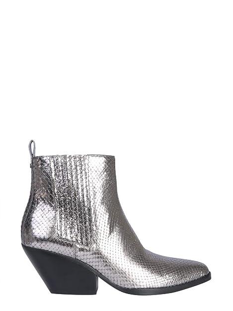 Michael By Michael Kors Mujer 40F8scme5m021 Gris Cuero Botines: Amazon.es: Zapatos y complementos