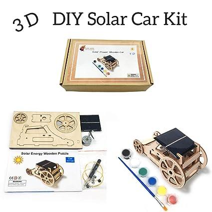 Amazon.com: 3D DIY Wooden Solar Car Robotics Engineering Maker Kit ...