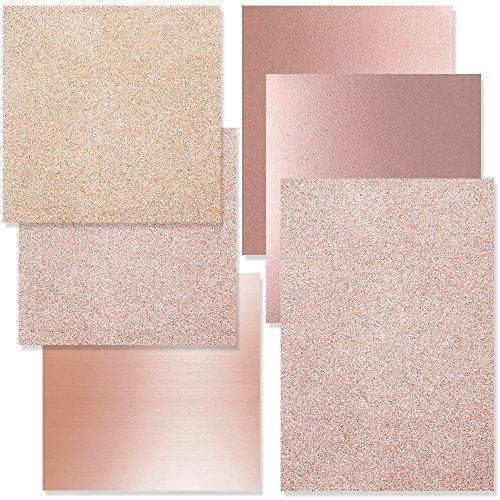 Rose Gold Siser Heat Transfer and Precise Rose Gold Vinyl Starter Kit - 6 Pack