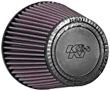 K&N RU-5147 Universal Clamp-On Air Filter: Round Tapered; 5 in (127 mm) Flange ID; 5.5 in (140 mm) Height; 6.5 in (165 mm) Base; 4.5 in (114 mm) Top