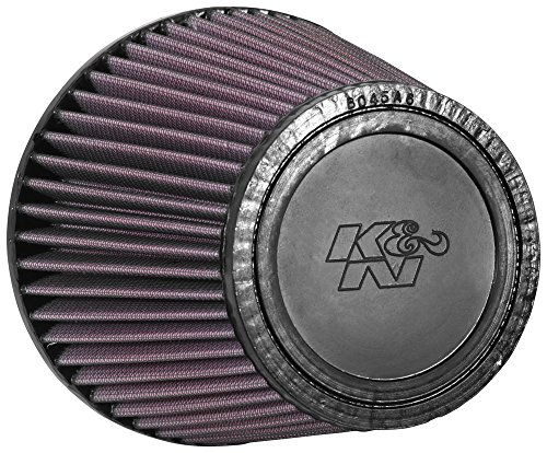 K&N RU-5147 Universal Clamp-On Air Filter: Round Tapered; 5 in (127 mm) Flange ID; 5.5 in (140 mm) Height; 6.5 in (165 mm) Base; 4.5 in (114 mm) Top by K&N