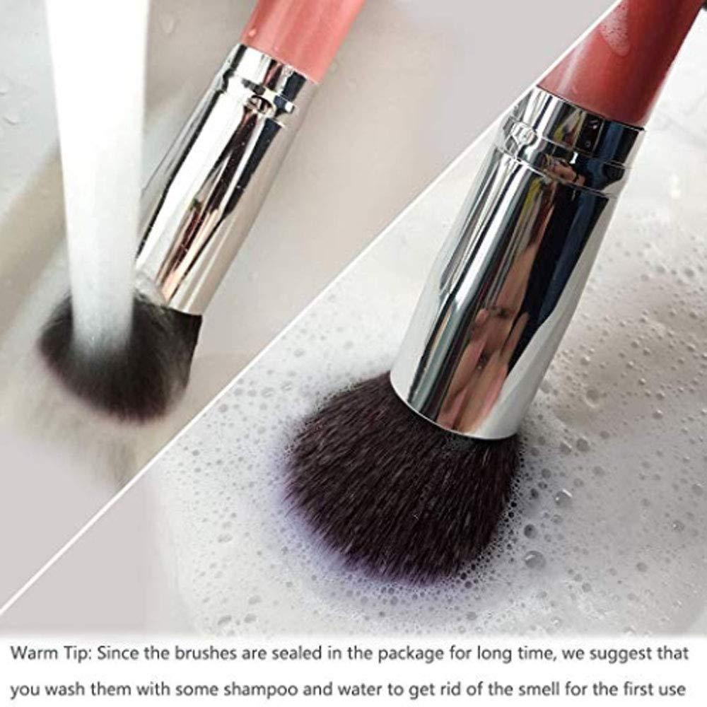 Lychee 10pcs Soft Professional Makeup Brushes Cosmetic Make Up Brush Set Fashion Foundation Powder(Pink)