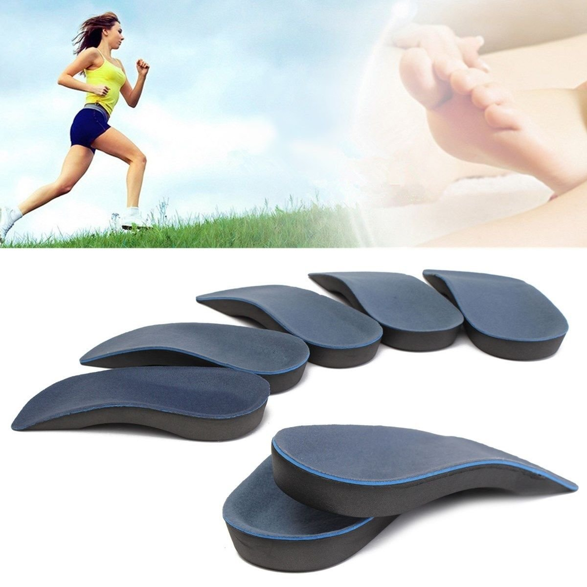 Orthotic Insole, Weak, Fallen Arches, Plantar fasciitis, Flat feet, Arch  support, Knee, bunion back hip pain relief, Body and Base Ltd TM:  Amazon.co.uk: ...