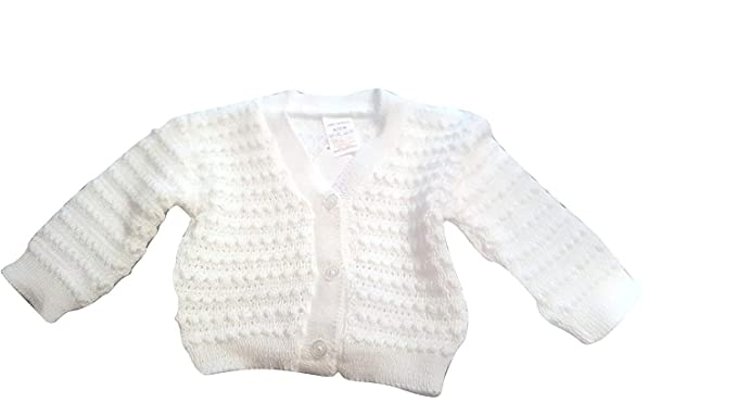 df5fb2442358 Baby Knitted 100% Acrylic Cardigan (6-9Months) Ivory  Amazon.co.uk ...