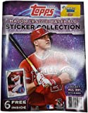 2017 Topps Baseball Collector's Stickers ALBUM + 6 free stickers