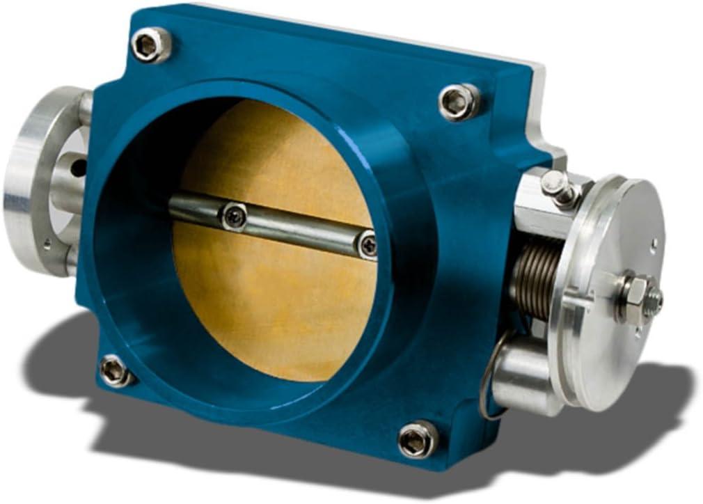 Blue 65MM Throttle Body Performance Intake Manifold Billet Aluminum High Flow