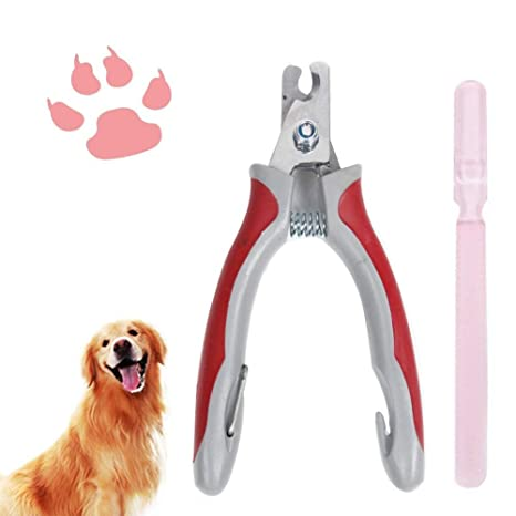 KaliningEU Clips de Uñas para Mascotas, Molinillo Profesional para Perros y Gatos con Lima de